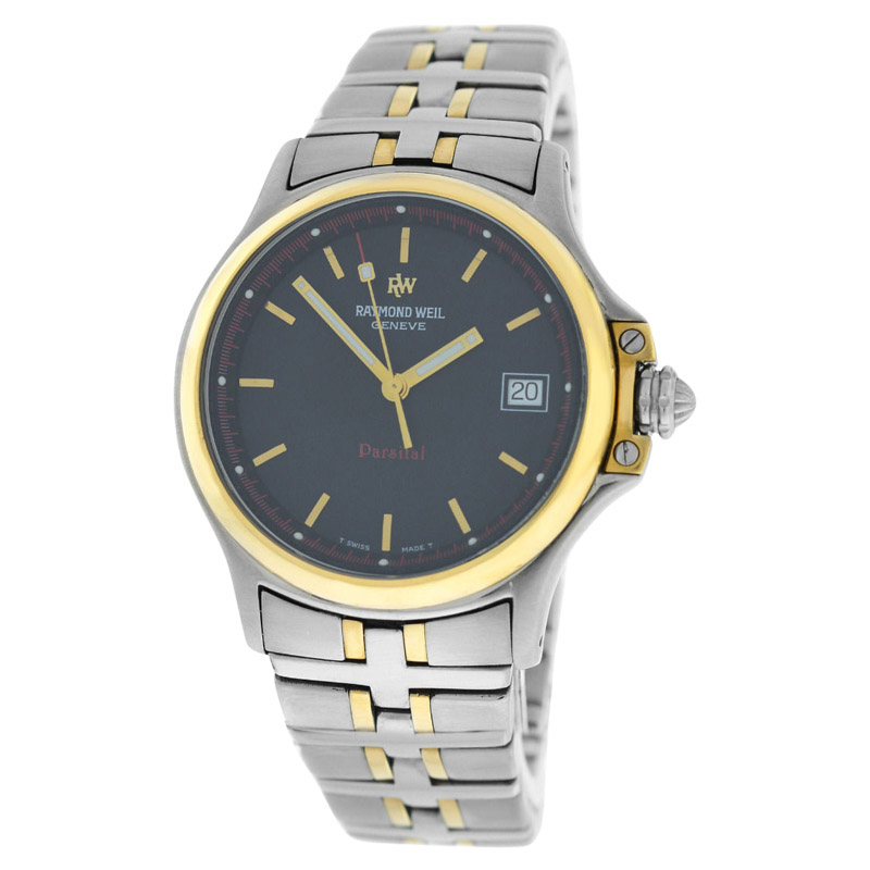 "Image of ""Raymond Weil Parsifal 9090 Stainless Steel Gold Quartz Mens 36mm Watch"""