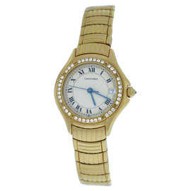 Cartier Panthere Cougar 11711 18K Yellow Gold 26mm Quartz Watch