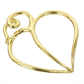 Tiffany & Co. 18K Yellow Gold Paloma Picasso Heart Leaf Pendant