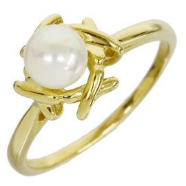 Tiffany & Co. 18K Yellow Gold Pearl Design Band Size 6.75 Ring
