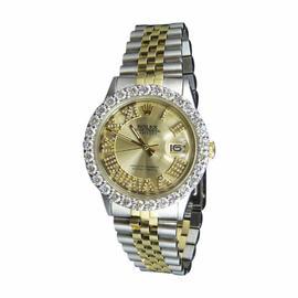 Rolex Datejust 2 Tone 18K Gold & Stainless Steel Jubilee 5.6 ct Diamond 36mm Watch