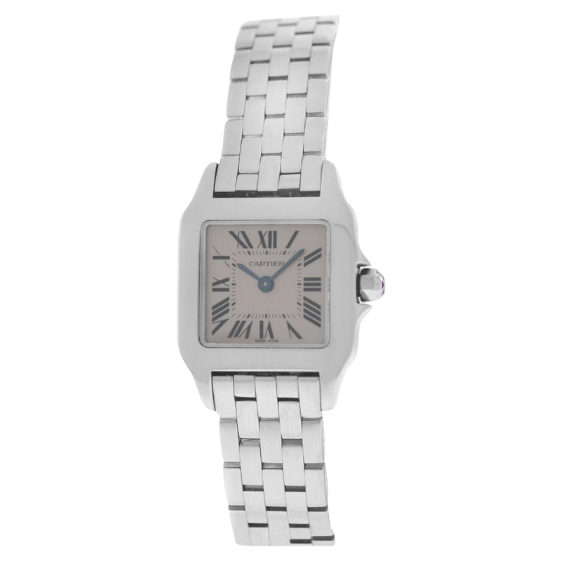 """Image of """"Cartier Santos Demoiselle 2698 Stainless Steel Pink Mother Of Pearl"""""""
