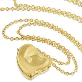 Tiffany & Co. Elsa Peretti Full Heart 18K Yellow Gold Pendant Necklace