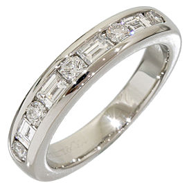 Tiffany & Co. Platinum Half Eternity Diamond Ring Size 3.75