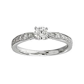 Tiffany & Co. 950 Platinum 0.21ct Diamond Harmony Ring Size 3.75
