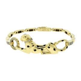 Cartier 18K Yellow Gold Panthere de Cartier Diamonds Bracelet