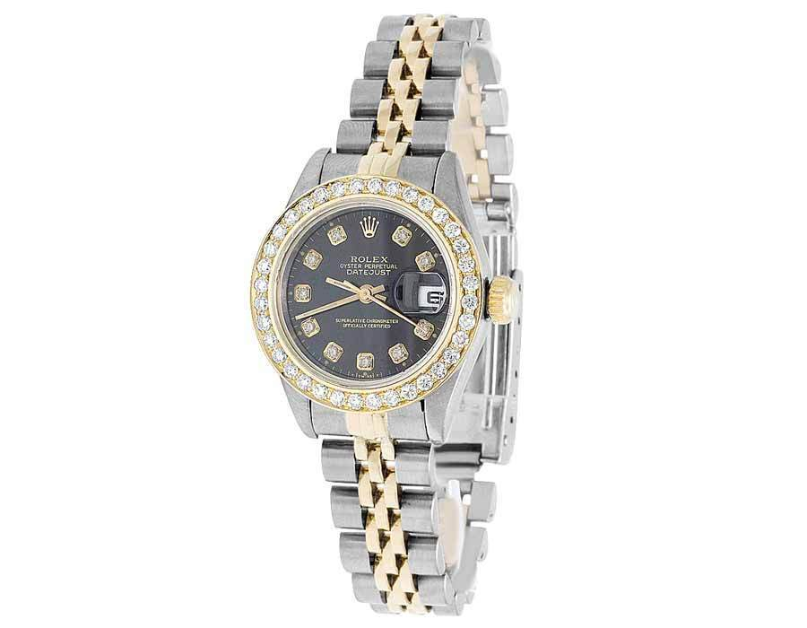 """Image of """"Rolex Datejust 69173 18K Yellow Gold & Stainless Steel 26mm Womens"""""""