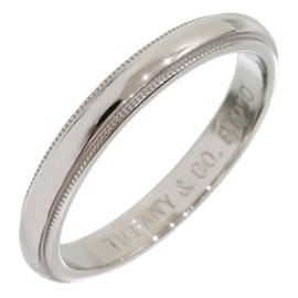 Tiffany & Co. 950 Platinum Milgrain Wedding Band Ring Size 7.25