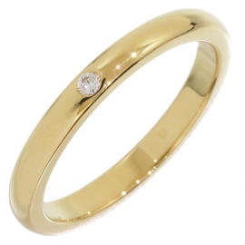 Tiffany & Co. 18K Yellow Gold Elsa Peretti Diamond Band Ring Size 7