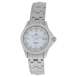 Omega Seamaster Stainless Steel Date Quartz 28mm Womens Watch