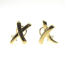 Tiffany & Co. 18K Yellow Gold Paloma Picasso Large X Earrings