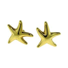 Tiffany & Co. Elsa Peretti 18K Yellow Gold Starfish Earrings