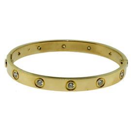 Cartier Love 18K Yellow Gold 10 Diamonds Bracelet Size 16