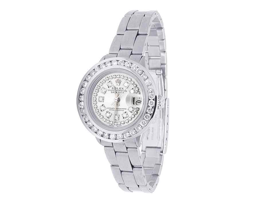 "Image of ""Rolex Datejust 6917 Stainless Steel & Silver Diamond Dial 26mm Womens"""