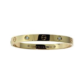 Cartier Love 18K Rose Gold Diamonds Bracelet Size 17