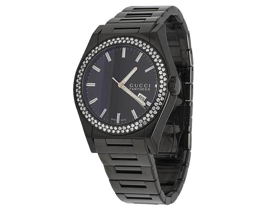"""Image of """"Gucci Pantheon Ya115244 Black PVD over Stainless Steel 44mm Mens Watch"""""""