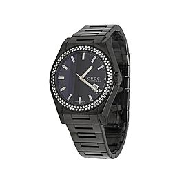 Gucci Pantheon YA115244 Black PVD over Stainless Steel 44mm Mens Watch