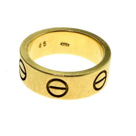 Cartier Love 18K Yellow Gold Wedding Band Ring Size 3.25