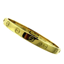 Cartier 18K Yellow Gold Love Bracelet Bangle Size 16