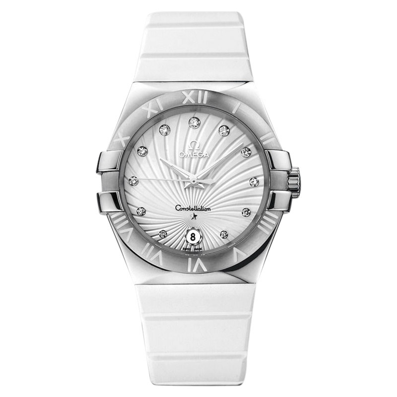 """Image of """"Omega Constellation 123.12.35.60.52.001 Stainless Steel & Silicone /"""""""