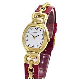 Audemars Piguet Audemarine 18K Yellow Gold / Leather Quartz 23mm Womens Watch