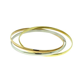 Cartier Trinity de Cartier 18K Yellow, White, Rose Gold Bangle Bracelet