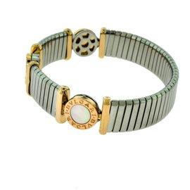 Bulgari Tubogas 18K Rose Gold, Stainless Steel & Mother of Pearl Bracelet