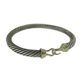 David Yurman 14K Yellow Gold and 925 Sterling Silver Cable Classics Bracelet