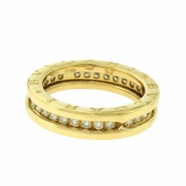 Bulgari B.Zero1 18K Rose Gold Diamonds One Band Ring Size 6.25