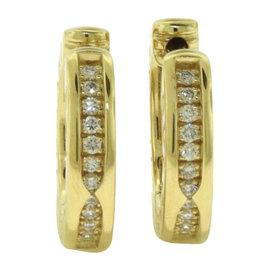Bulgari B.zero1 18K Rose Gold Diamond Hoop Earrings