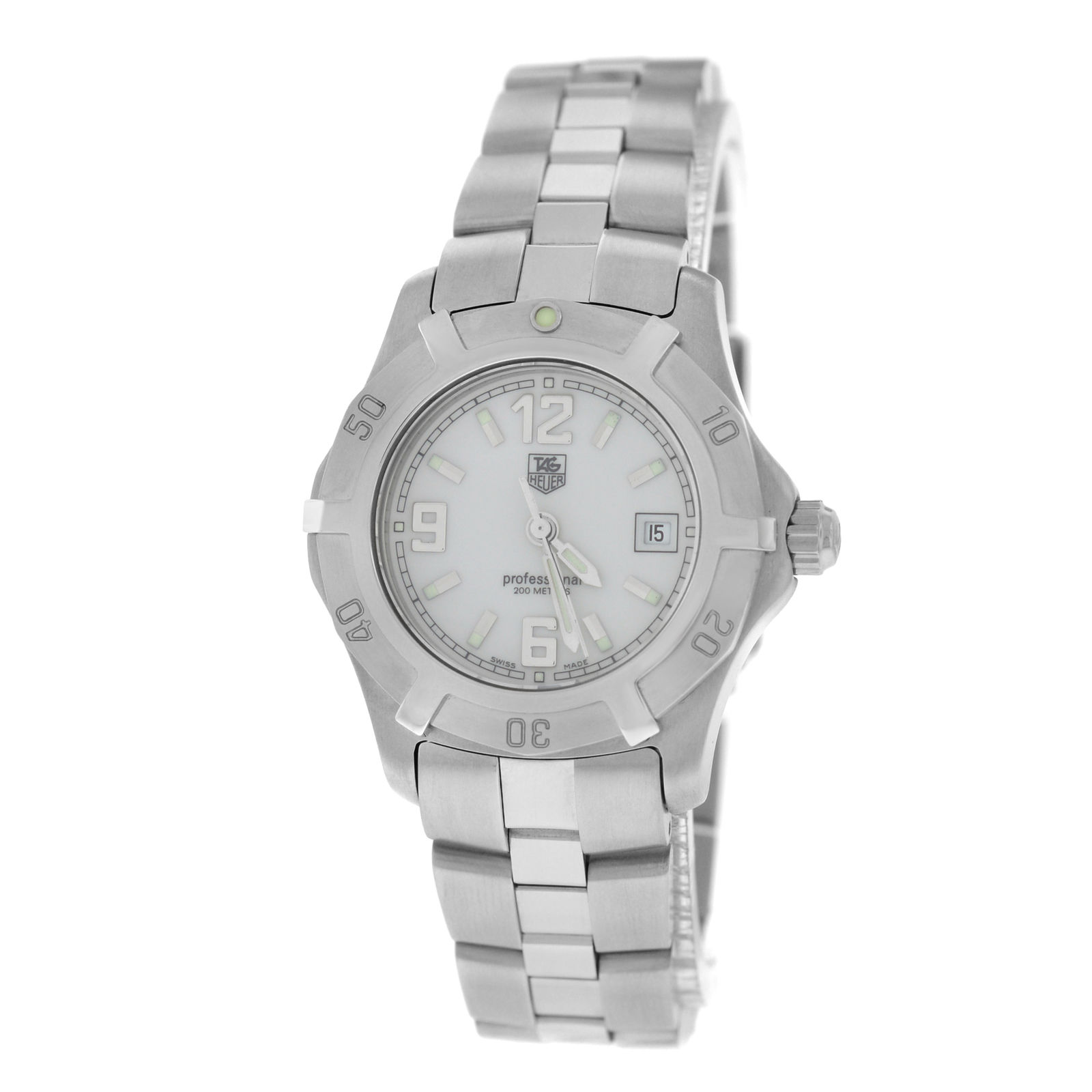 """Image of """"Tag Heuer Date Wn1311-0 Stainless Steel Quartz 28mm Womens Watch"""""""
