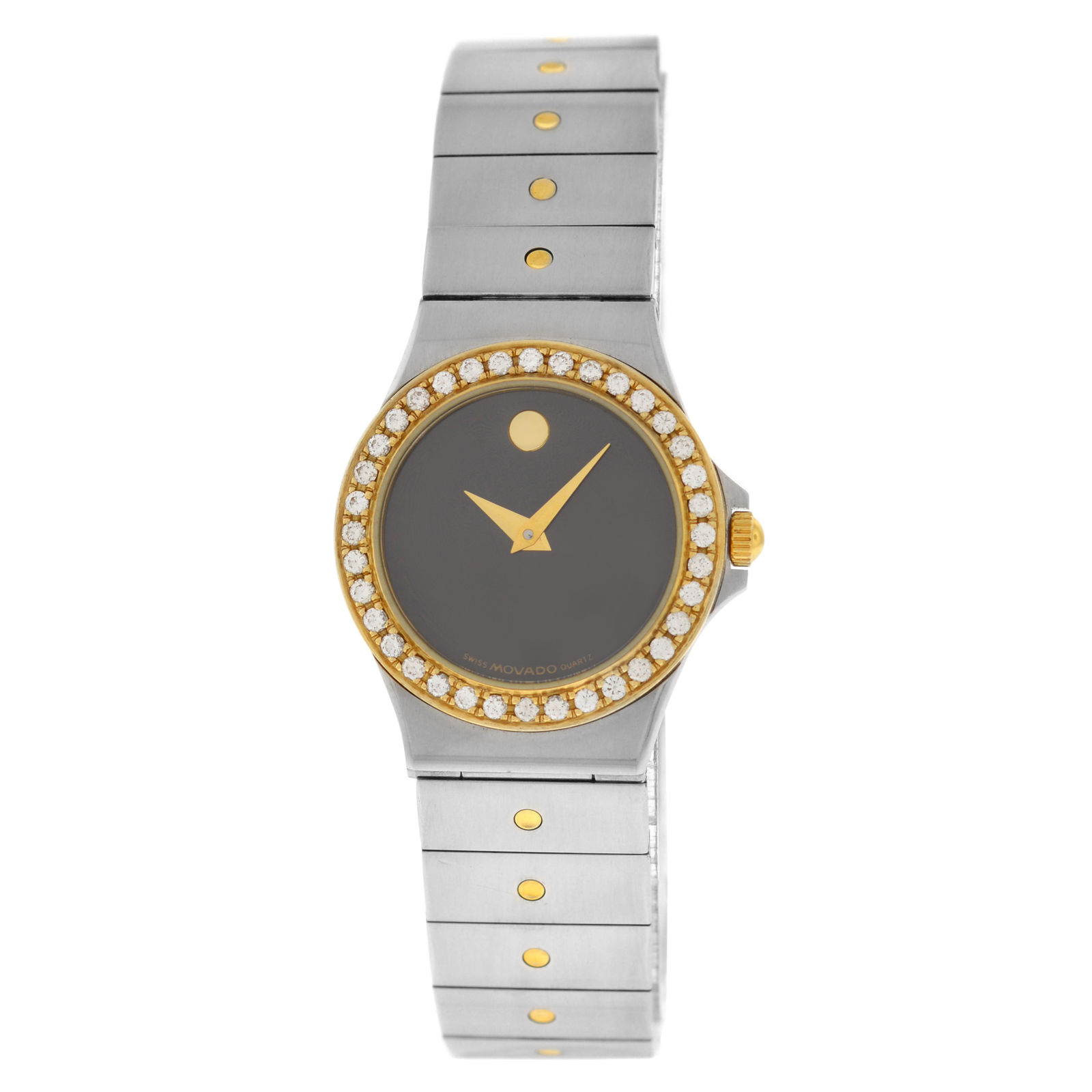 "Image of ""Movado 85.a1.816.2S Stainless Steel & 18K Yellow Gold with Diamond"""