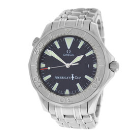 Omega Seamaster Limited Edition 2533.50.00 Stainless Steel & 18K White Gold Automatic 42mm Mens Watch