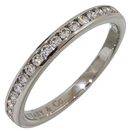 Tiffany & Co. 950 Platinum & Diamonds Half Eternity Ring Size 5