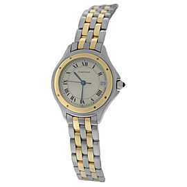 Cartier Panthere Cougar 119000R Stainless Steel & 18K Yellow Gold Quartz 26mm Womens Watch