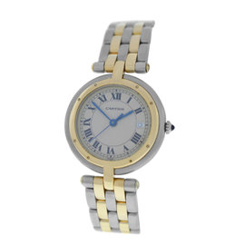 Cartier Panthere Vendome Cougar 183964 Stainless Steel & 18K Yellow Gold Quartz 30mm Womens Watch