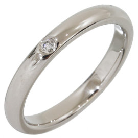 Tiffany & Co. Elsa Peretti Platinum Pt950 Diamond Ring Size 6