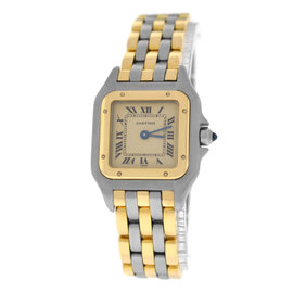 Cartier Panthere 1057917 18K Yellow Gold / Stainless Steel 22mm Womens Watch