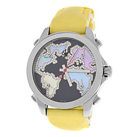 Jacob & Co. Five 5 Time Zone JC-M122 Stainless Steel with Mother of Pearl 40mm Womens Watch