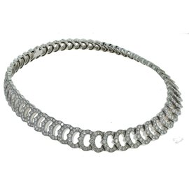 Cartier 'C De Cartier' 18K White Gold 20.00ct. Diamond Choker Necklace