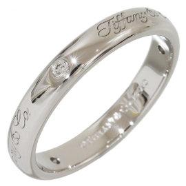 Tiffany & Co. 950 Platinum with 3P Diamonds Wedding Ring Size 6