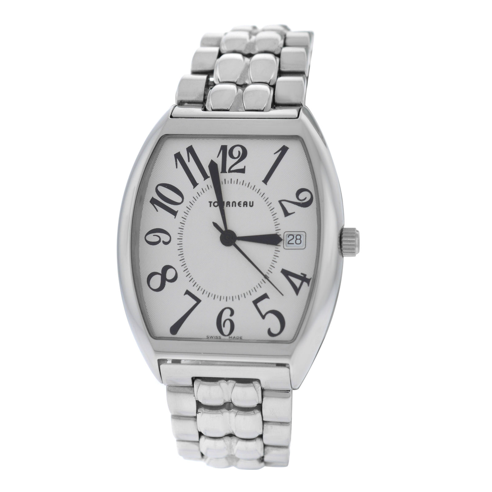 """Image of """"Tourneau 70102 Stainless Steel Quartz 35mm Mens Watch"""""""