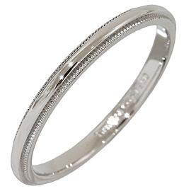 Tiffany & Co. Platinum Milgrain Wedding Band Ring Size 8