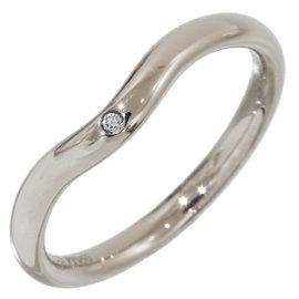 Tiffany & Co. Elsa Peretti Platinum with Diamond Curved Ring Size 5.75