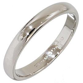 Tiffany & Co. Platinum Simple Wedding Band Ring Size 7