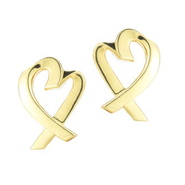 Tiffany & Co. Yellow Gold Heart Earrings