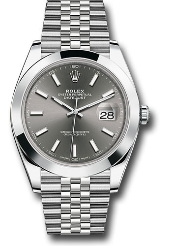 """Image of """"Rolex Oyster Perpetual Datejust 126300 Dkrij Stainless Steel 41mm Mens"""""""