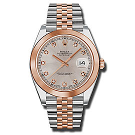 Rolex Two-Tone DateJust II Rose Gold Sundust Diamond Dial Watch