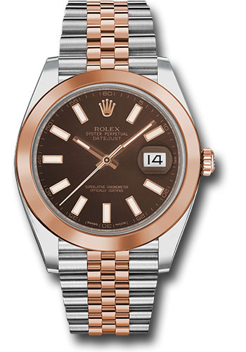 "Image of ""Rolex Oyster Perpetual Datejust Stainless Steel & 18K Pink Gold 41mm"""