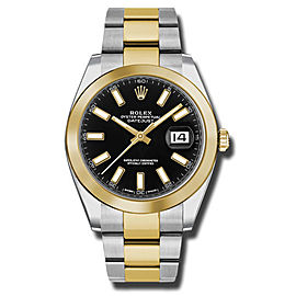 Rolex Two-Tone DateJust II 126303 BKIO Yellow Gold Black Index Dial Watch